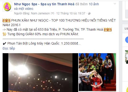 Thiết kế web spa Thanh Hóa