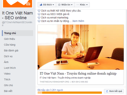 DỊch vụ chạy quảng cao facebook thanh hóa